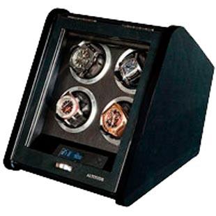 Шкатулка для подзавода 4-х механических часов, материал: карбон, покрытый лаком