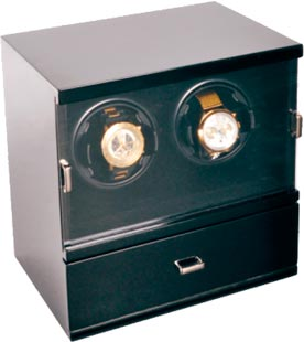 Шкатулка для подзавода 2-х механических часов от компании Aubolex.