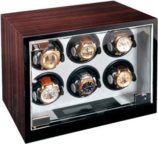 Шкатулка для подзавода 6-х механических часов от компании Aubolex.