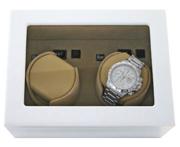Шкатулка для двух механических часов. Лак белого цвета, лимитированная серия.