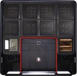 Шкаф для часов BUBEN & ZORWEG. Центральная система управления для освещения и сигнала тревоги. Сейф с высококачественной системой безопасности, электронный замок