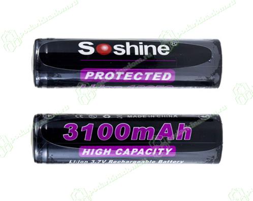 Li-ion Soshine 18650 3100 mAh