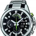 Коллекция Edifice 10 наименований стоимостью от 3990 до 22900 руб. CASIO Edifice - Флагманская линейка кварцевых часов в стальных корпусах исполненных в спортивном стиле. Именно часы из этой коллекции собирают в себя все самое прогрессивное, начиная с дизайна и заканчивая инновационными механизмами. В былые времена собрание CASIO Edifice обладало лучшим соотношеним цена/качество, сейчас коллекция позиционируется прежде всего как собрание часов подчеркивающие статус его владельца.