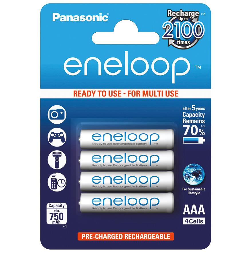 Sanyo AA Panasonic Eneloop 1900 мАч, 4 шт.