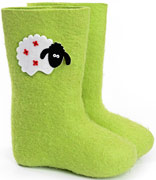 W.X. Валенки с овечками зеленые