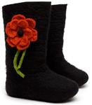 W.X. Валенки черные с цветочком