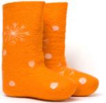 W.X. Валенки-снежинки orange