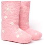 W.X. Валенки-снежинки pink