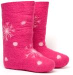 W.X. Валенки-снежинки pink2