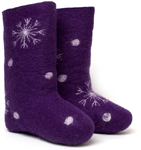 W.X. Валенки-снежинки violet