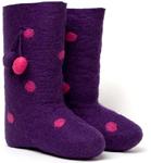 W.X. Валенки с сердечками violet
