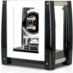Шкатулка для часов Jebely с автоподзаводом в корпусе из натурального дерева. Имеет 6 программ и 4 режима вращения: