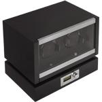 Шкатулка Kadloo для подзавода 2 механических часов. Независимые ячейки для часов, удобное управление, электронный дисплей, все это в корпусе из дерева покрытого черным рояльным лаком. Уникальная модель, отличный выбор для Ваших часов
