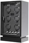 Шкатулка для механических часов Cube 6 CARBON.Отделка карбоном.Светодиодная подсветка. Часы заводятся по отдельности.