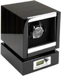 Модуль для подзавода одних механических часов. Современный дизайн и отделка макассар, в совокупности с немецким качеством и надежностью, делают ее одной из самых популярных шкатулок для подзавода часов