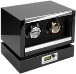 Шкатулка Kadloo для двух механических часов с автоподзаводом. Проверенное качество в современном дизайне с ЖК дисплеем и отделкой карбон