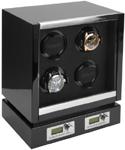 Шкатулка Kadloo для одних механических часов с автоподзаводом. Проверенное качество в современном дизайне с ЖК дисплеем и отделкой карбон