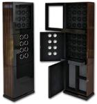 Шкаф для подзавода 32-х механических часов. Внешняя отделка дерево макасар. Отлично смотрится как в современном, так и в строгом, офисном интерьере