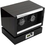Модуль для подзавода двух механических часов. Современный дизайн и отделка макассар, в совокупности с немецким качеством и надежностью, делают ее одной из самых популярных шкатулок для подзавода часов