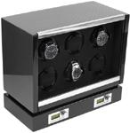 Шкатулка фирмы Kadloo для подзавода 6 часов с автоподзаводом, с электронным управлением. Выполнена в деревянном корпусе, отделка корпуса карбон