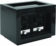 Часовая шкатулка Kadloo Cube 2 Carbon для двух механических часов. Независимые моторы, отделка карбон. Работа от сети.