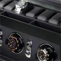 Коллекция Шкатулка для наручных часов 13 наименований стоимостью от 24990 до 79990 руб. Получить в подарок стильную шкатулку для подзавода и хранения часов от одного из самых известных в мире производителей теперь стало реальностью. Равно как и возможность сделать аналогичный подарок своим друзьям и близким. Упрощенный  дизайн и внешняя прямолинейность конструкции компенсируется богатой отделкой корпуса из кожи высокого качества. Каждая модель оснащена двумя отделениями:  для завода часов и для их хранения. Имеются и позиции, функциональность которых немного сужена: например, шкатулка для наручных часов без дополнительного отсека для хранения. Богатый выбор моделей позволяет выбрать изделие нужного дизайна