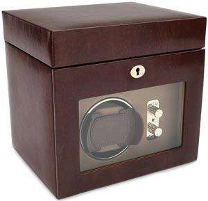 Шкатулка для подзавода одних наручных часов с дополнительными отделениями для хранения