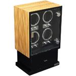 Шкатулка для 4 автоматических часов с автоподзаводом. Так же обладает местом для хранения 8 часов и ювелирных украшений. Надежный механизм в изящном корпусе, отличный выбор для Ваших часов