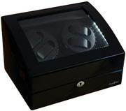 Деревянная шкатулка для хранения и подзавода 4-х наручных механических часов с автоподзаводом.