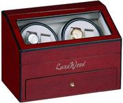 Шкатулка LuxeWood для подзавода 4-х часов. Ящик для хранения драгоценностей.
