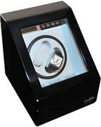Шкатулка LuxeWood черного цвета для автоподзавода 2-х часов