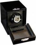 Шкатулка для автоподзавода 1 часов, черного цвета с выдвижным ящиком для хранения драгоценностей