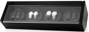 Шкатулка для часов с автоподзаводом для 8-ми наручных часов, выполнена из натурального дерева. Отделка: лак