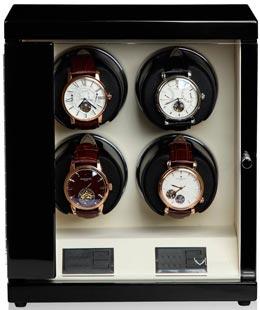 Шкатулка для часов с автоподзаводом для 4-х механических часов.