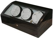 Шкатулка для шести наручных автоматических часов. С отделениями для хранения