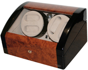 Шкатулка для наручных часов с автоподзаводом (4 штуки) и статического хранения 4 часов. С LED подсветкой.