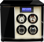 Шкатулка для подзавода 4х наручных часов и с двумя дополнительными отделениями для хранения.