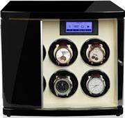 Шкатулка с автоподзаводом для 6-ти механических часов, работает от сети и батареек формата