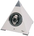 Модуль для подзавода часов Rapport в форме белой пирамиды.