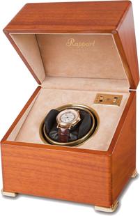 Шкатулка Perpetua для подзавода 1-х наручных часов имеет два режима вращения. Корпус шкатулки изготовлен из дерева с гладкой, отполированной поверхностью.