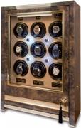 Шкатулка Paramount от Раппорт. Для завода 9 наручных механических часов. Закрывается на ключ. Доп место для хранения часов.