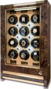 Шкатулка Rapport Paramount Walnut для подзавода 12-ти механических часов с ящиком для хранения часов