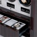 Коллекция Шкафы для часов 15 наименований стоимостью от 117730 до 1100000 руб. Среди моделей этой коллекции можно выбрать подарок на любой, даже самый взыскательный вкус. Стильные шкатулки с роскошной отделкой станут не только полезной в быту вещью, но и настоящим украшением интерьера. Роскошные деревянные шкатулки с автоподзаводом из коллекции Раппорт – лучший подарок ценителю механических часов.
