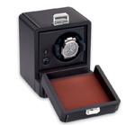 Шкатулка для подзавода часов от Итальянской компании Scatola del Tempo для подзавода 1-х часов (коричневая кожа, белый металл)