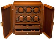 Шкатулка для наручных часов Scatola del Tempo для подзавода 6-ти часов, хранения часов и аксессуаров.
