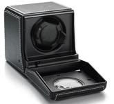 Шкатулка для подзавода часов от Итальянской компании Scatola del Tempo для подзавода 1-х часов (черная мягкая кожа)