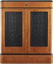 Часовой шкаф с бронированными стеклами и биометрическим замком, для завода 64 механических часов