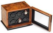 Шкатулка для часов от Итальянской компании Scatola del Tempo для подзавода 6-ти часов дверца со стеклянной вставкой