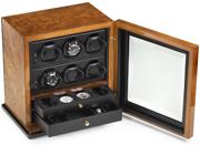 Шкатулка для наручных часов Scatola del Tempo для подзавода 6 часов, хранения часов и аксессуаров, с 1 дверцей