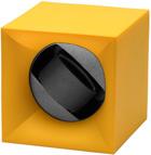 Шкатулка Свисс Кубик ярко желтого цвета, выполнена из пластика и работающая от батарейках.